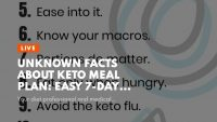 Unknown Facts About Keto meal plan: Easy 7-day menu and diet tips