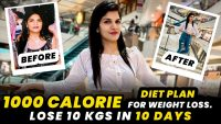 1000 Calorie Diet Plan For Weight Loss | Indian Veg Diet Plan | By imkavy