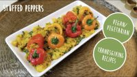 HOW TO MAKE VEGETARIAN STUFFED PEPPERS   Indian Style   THANKSGIVING RECIPES   Quick & Easy Recipe