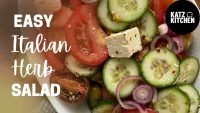 EASY Italian Salad Recipe | Vegetarian Salad Recipe | Healthy Eating | Quick and Easy | #salad