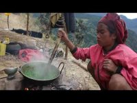 Green organic Asian vegetarian food recipe ll Primitive technology