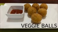 Veggie Balls | Fried Vegetable balls | Quick and easy starter recipe | Kids snack recipe