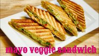 """mayo veggie sandwich"" easy & quick recipe"